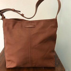 Lucky Brand 100% Leather Tote, Chocolate Brown